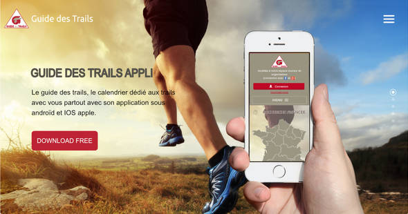 guide application  calendrier trail androïd smartphone tablette