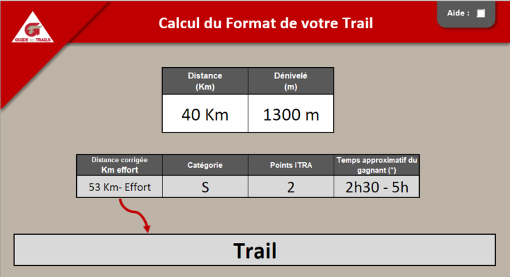 Calcul Format Trail Version 1.0